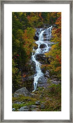Silver Cascade Waterfall Framed Print