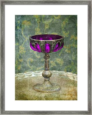 Silver Chalice With Jewels Framed Print