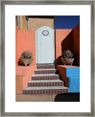 Silver City Doorway Framed Print by FeVa  Fotos