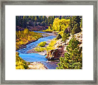 Silver Creek Framed Print