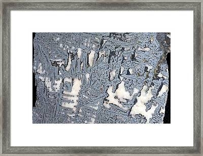 Silver Crystals In Calcite Framed Print by Dirk Wiersma
