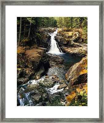 Silver Falls Framed Print by Angie Vogel