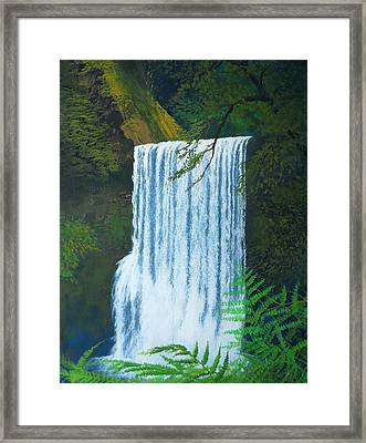 Silver Falls Framed Print by Robert Duvall