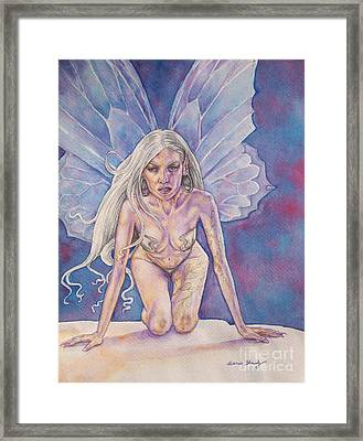 Silver Fay Framed Print by Diana Shively