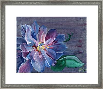 Silver Flower Framed Print by Diane Peters