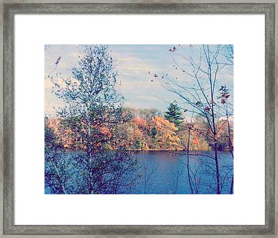 Silver Lake In Fall Framed Print