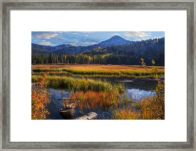 Silver Lake In The Wasatch Mountains Framed Print by Utah Images