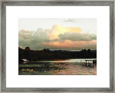 Framed Print featuring the photograph Silver Lake Sunset by Sadie Reneau