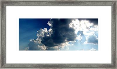 Silver Lining II Framed Print by Dee Fabian