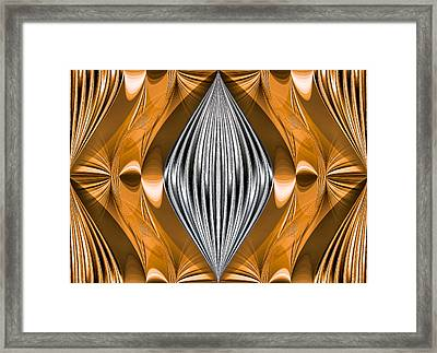Silver Marquise Engagement Framed Print
