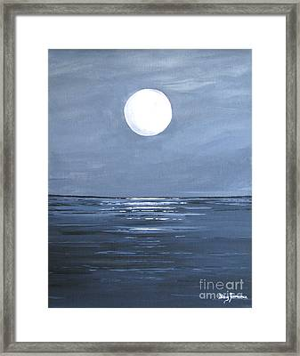 Silver Moon Framed Print by Stacey Zimmerman