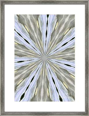Silver Pewter And Gold Framed Print by Marsha Heiken
