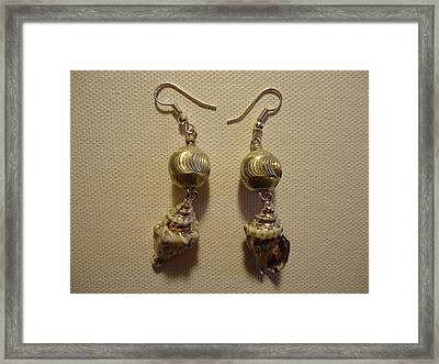 Silver Seashell Dangle Earrings Framed Print by Jenna Green