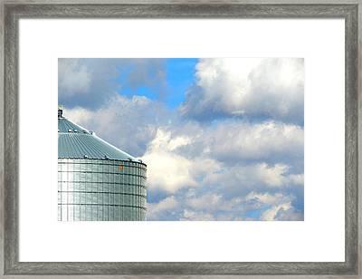Silver Siding Framed Print by Cyryn Fyrcyd