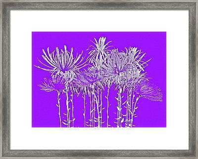 Silver Stems On Purple Framed Print by James Mancini Heath