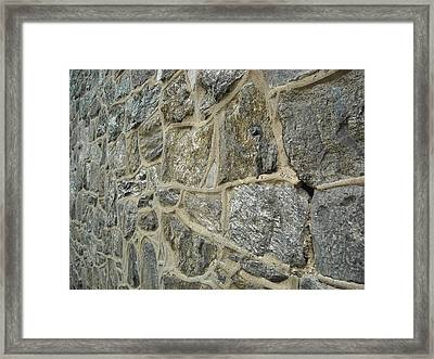 Silver Stone Framed Print by Christophe Ennis