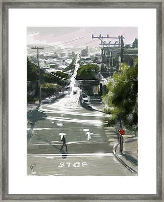 Silver Streets Framed Print