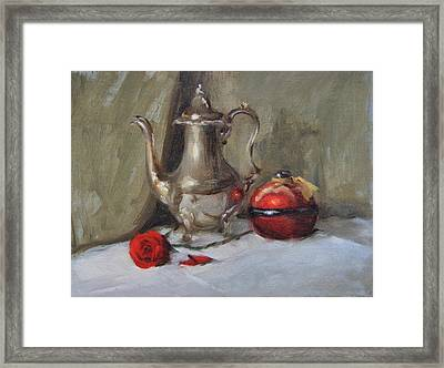 Silver Tea Pot Framed Print