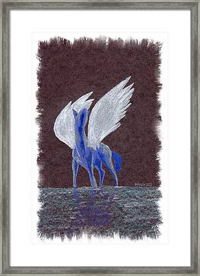 Silver Wings Framed Print