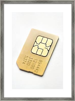 Sim Card Framed Print by Jon Stokes