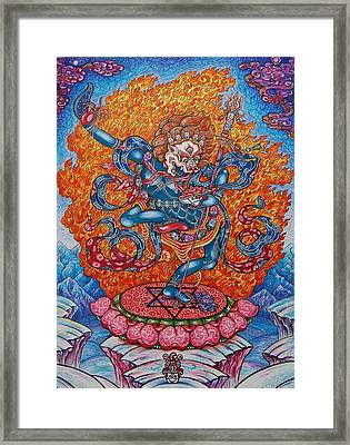 Simkhamukha The Dakini Framed Print