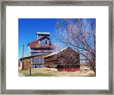 Simla Grain And Feed Framed Print by Clarice  Lakota