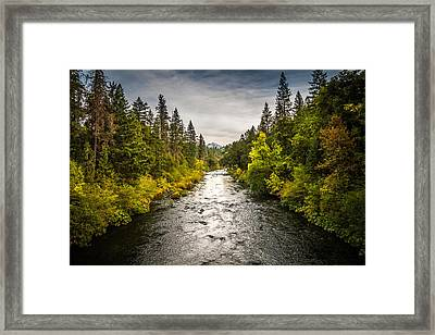 Framed Print featuring the photograph Simms Road by Randy Wood