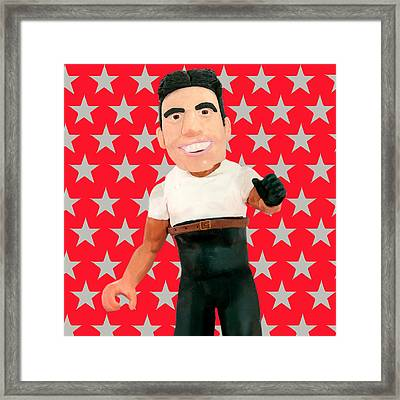 Simon Cowell Framed Print by Louisa Houchen