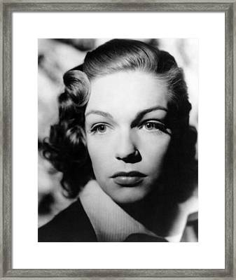Simone Signoret, 1940s Framed Print by Everett