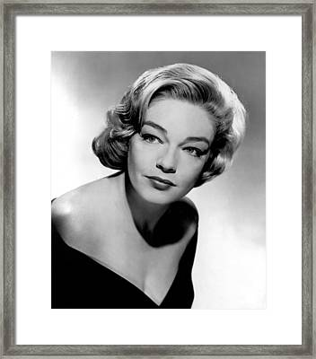 Simone Signoret, 1950s Framed Print by Everett