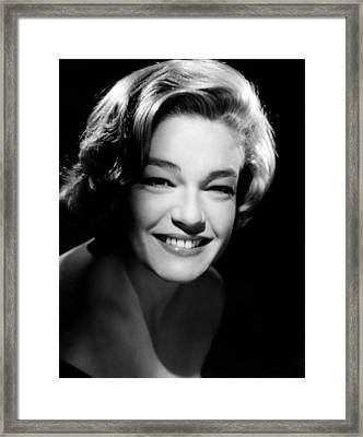 Simone Signoret, 1958 Framed Print by Everett