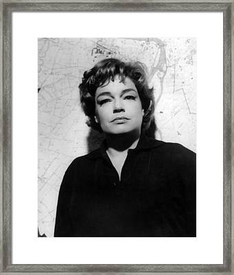 Simone Signoret, 1963 Framed Print by Everett
