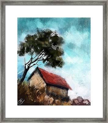 Simple Landscape  Framed Print by Kiran Kumar