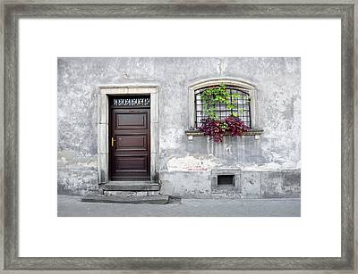 Simple Old House Facade. Framed Print by Fernando Barozza