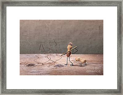 Simple Things - Christmas 01 Framed Print by Nailia Schwarz