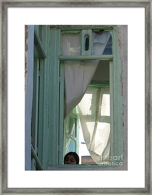 simple window in Damascus Framed Print by Issam Hajjar