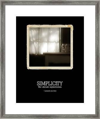 Simplicity Framed Print by Bonnie Bruno