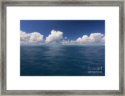 Simplicity Great Barrier Reef Framed Print