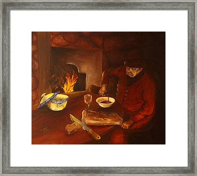 Framed Print featuring the painting Simplicity by Itzhak Richter