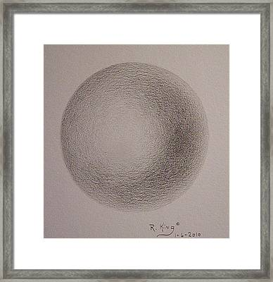 Framed Print featuring the drawing Simply A Ball by Roena King