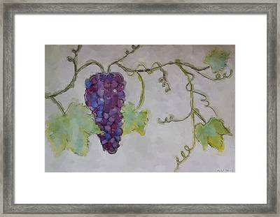Simply Grape Framed Print