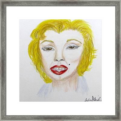 Simply Marilyn Framed Print