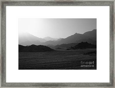 Sinai Desert And Mountains Framed Print by Heiko Koehrer-Wagner