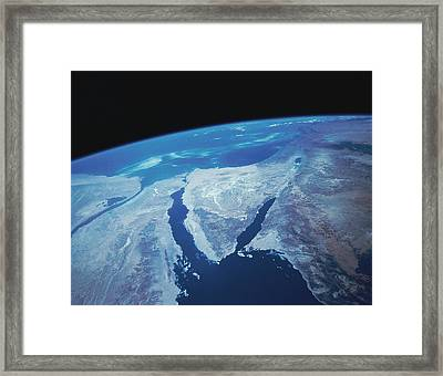 Sinai Peninsula From Space Framed Print