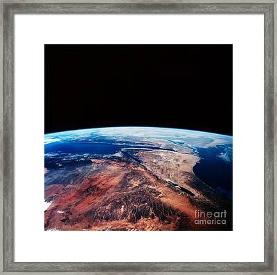 Sinai Peninsula Framed Print by Nasa