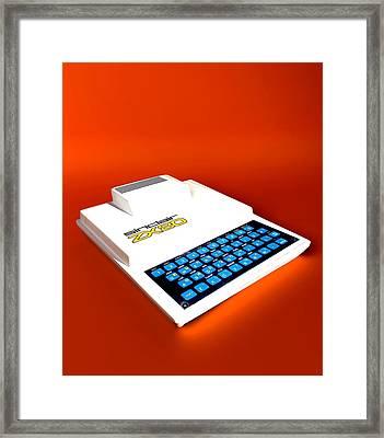 Sinclair Zx80 Personal Computer Framed Print by Christian Darkin