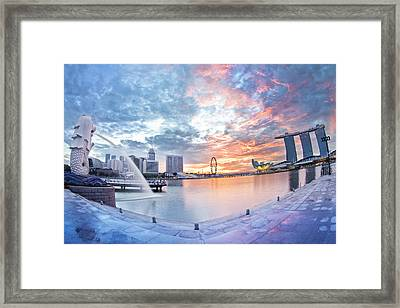 Singapore : Morning Glory Framed Print