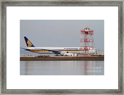 Singapore Airlines Jet Airplane At San Francisco International Airport Sfo . 7d12140 Framed Print by Wingsdomain Art and Photography