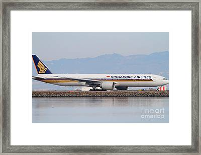 Singapore Airlines Jet Airplane At San Francisco International Airport Sfo . 7d12145 Framed Print by Wingsdomain Art and Photography