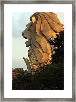 Singapore Merlion Framed Print